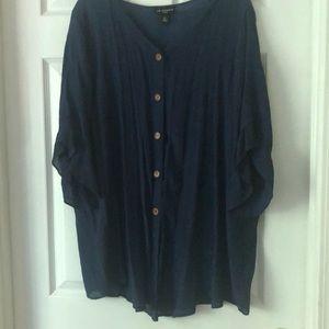 ⭐️2X Blue Tunic rayon/polyester